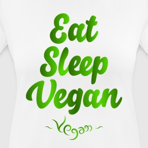 Eat Sleep Vegan - vrouwen T-shirt ademend