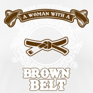 No woman with brown belt - Women's Breathable T-Shirt