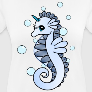 Seahorse with horn - Women's Breathable T-Shirt