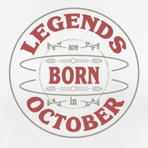 Birthday October legends born gift birth - Women's Breathable T-Shirt