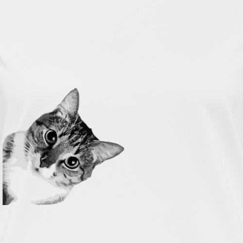 cat bw - Frauen T-Shirt atmungsaktiv