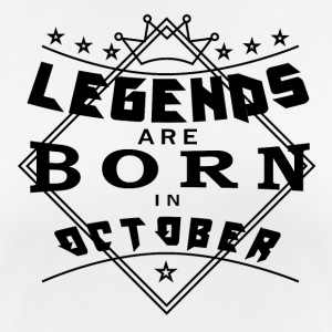 Legends October born birthday gift birth - Women's Breathable T-Shirt