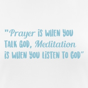 Prayer and Meditation - Women's Breathable T-Shirt
