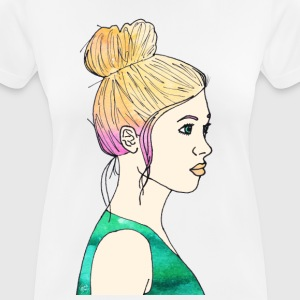 Girl watercolor - Women's Breathable T-Shirt