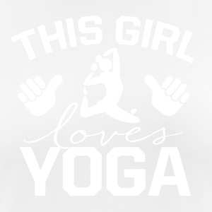 This girl loves YOGA - Women's Breathable T-Shirt