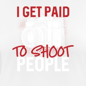 I get paid to shoot people - Frauen T-Shirt atmungsaktiv
