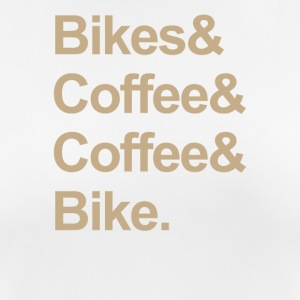 BIKE & COFFEE - Frauen T-Shirt atmungsaktiv