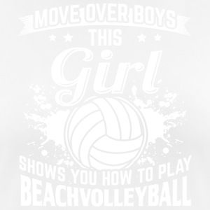 beachvolley MOVE OVER drenge - Dame T-shirt svedtransporterende