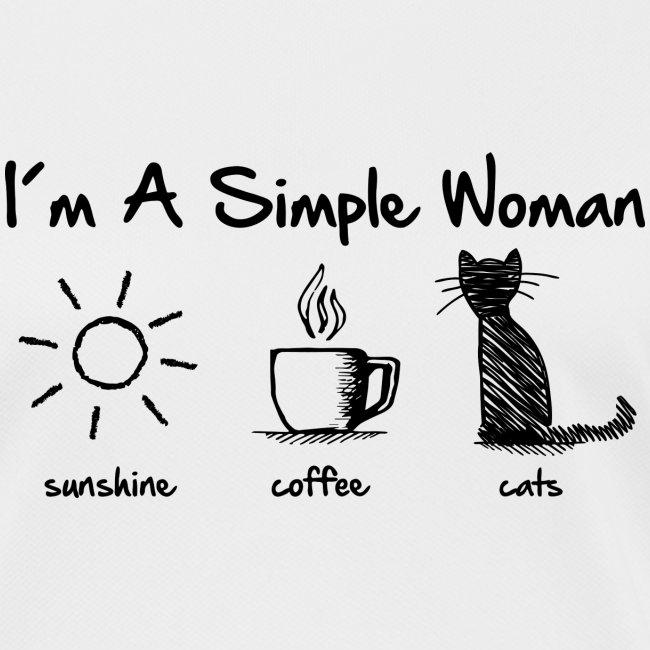 Vorschau: simple woman cats - Frauen T-Shirt atmungsaktiv