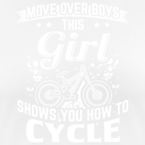 Cycle MOVE OVER this girl shows you - Women's Breathable T-Shirt