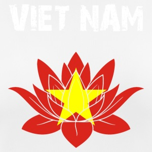 Nation utforming Viet Nam Lotus - Pustende T-skjorte for kvinner