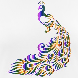 Peacock colorful - Women's Breathable T-Shirt