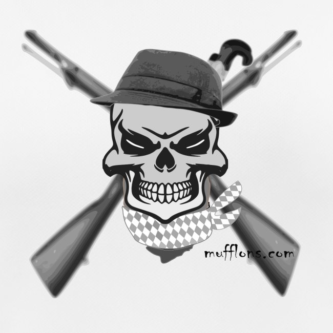 Totenkopf mit Hutund Gewehr2