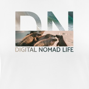 "Digital Nomad ""Iguana"" ~ Black Edition - Andningsaktiv T-shirt dam"