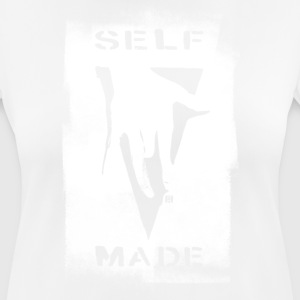SELF MADE CREW Logo Black-streik - Pustende T-skjorte for kvinner