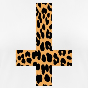 Leopard Inverted Cross - Camiseta mujer transpirable
