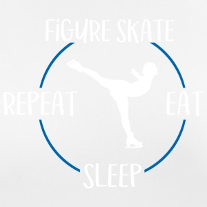 Figur skate, Eat, Sleep, Repeat - Pustende T-skjorte for kvinner