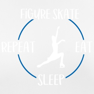 Figure Skate, Eat, Sleep, Repeat - Women's Breathable T-Shirt