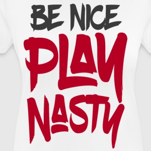 Be Nice Lecture Nasty - T-shirt respirant Femme