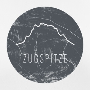 Zugspitze contour on wooden plate - Women's Breathable T-Shirt