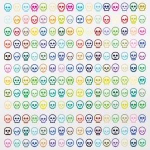 skulls skulls colorful summer bones - Women's Breathable T-Shirt