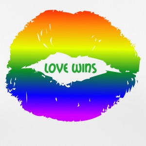 LOVE WINS lepper - Pustende T-skjorte for kvinner