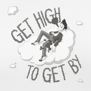 get high to get by - vrouwen T-shirt ademend