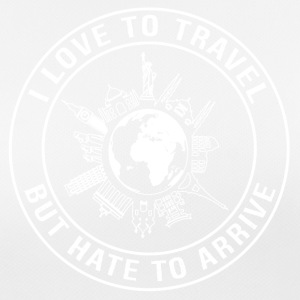 I Love To Travel, But Hate To Arrive - Women's Breathable T-Shirt