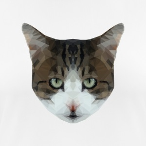 Low Poly Hipster Cat - Pustende T-skjorte for kvinner