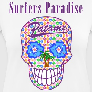 Patame Surfers Paradise Skull Purple - vrouwen T-shirt ademend