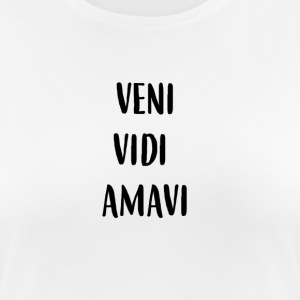 Veni Vidi Amavi (we come, we saw we love) - Women's Breathable T-Shirt