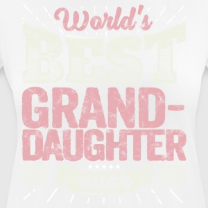 Familien Geschenk: World's best Grand-Daughter - Frauen T-Shirt atmungsaktiv