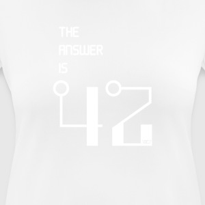 The Answer is 42 - Women's Breathable T-Shirt