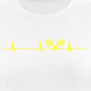 ECG HEARTBEAT TENNIS yellow - Women's Breathable T-Shirt
