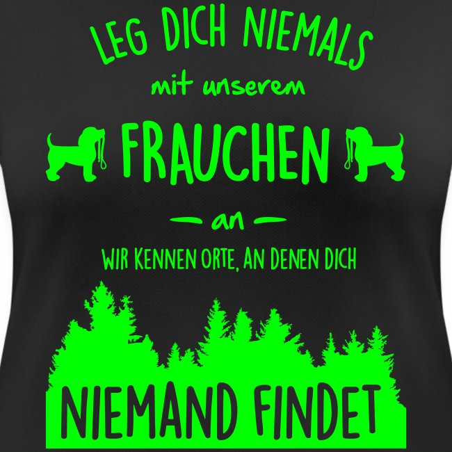 Vorschau: Unser Frauchen - Frauen T-Shirt atmungsaktiv