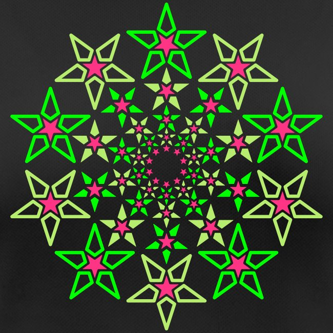 Fractal Star 3 colori neon