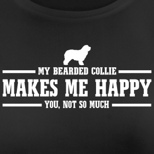 BEARDED COLLIE makes me happy - Women's Breathable T-Shirt