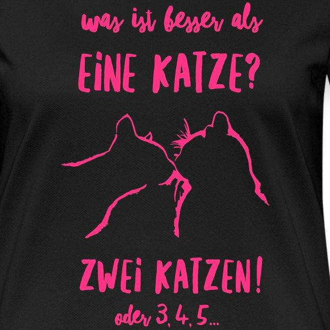 Vorschau: besser als eine Katze - Frauen T-Shirt atmungsaktiv