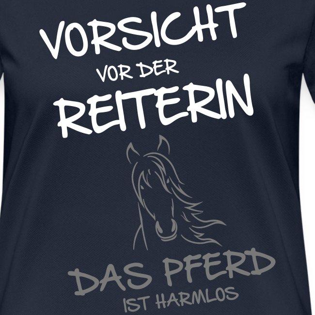 Vorschau: Vorsicht vor der Reiterin - Frauen T-Shirt atmungsaktiv