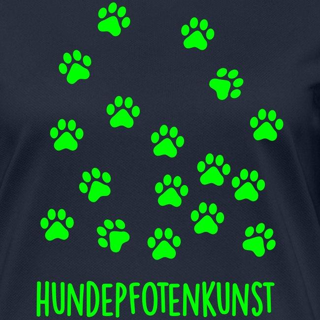 Vorschau: Hundepfotenkunst - Frauen T-Shirt atmungsaktiv