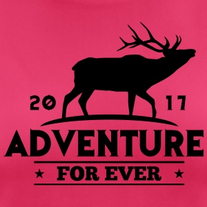 ADVENTURE FOR EVER - HERT - vrouwen T-shirt ademend