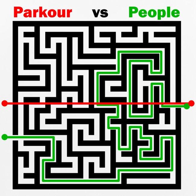 Parkour Maze parkour vs people