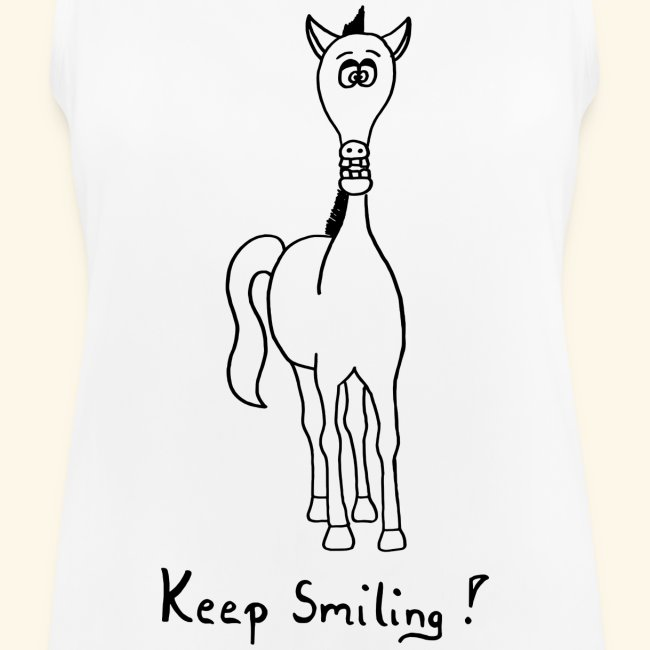 Funny Horse Keep Smiling