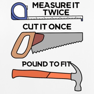 Roofers: Measure it twice, cut it once, pound - Women's Breathable Tank Top