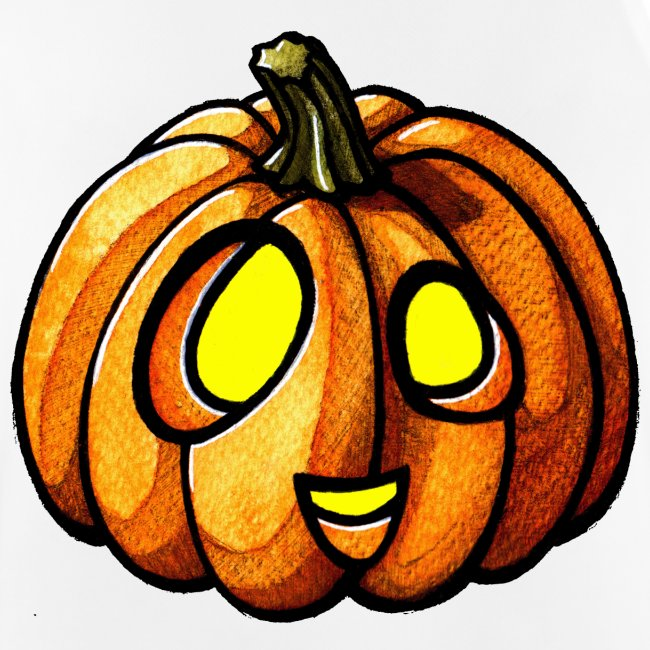 Pumpkin Halloween watercolor scribblesirii