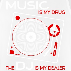 music is my drug - the dj is my dealer - red - Männer Tank Top atmungsaktiv