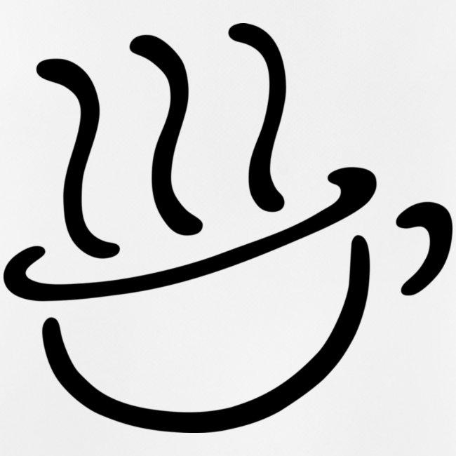 Steaming coffee logo