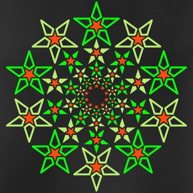 Fractal Star 3 color neón