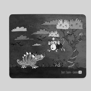 Ami Wilbur et Crocodog - Tapis de souris (format paysage)