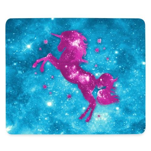 Einhorn, Sterne, Himmel, Pink, Rosa, Blau Hellblau - Mousepad (Querformat)